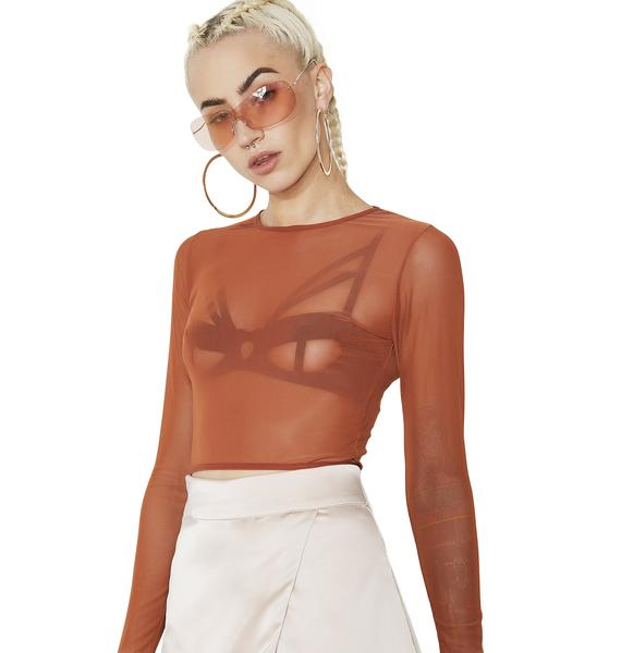 Real World Mesh Crop Top