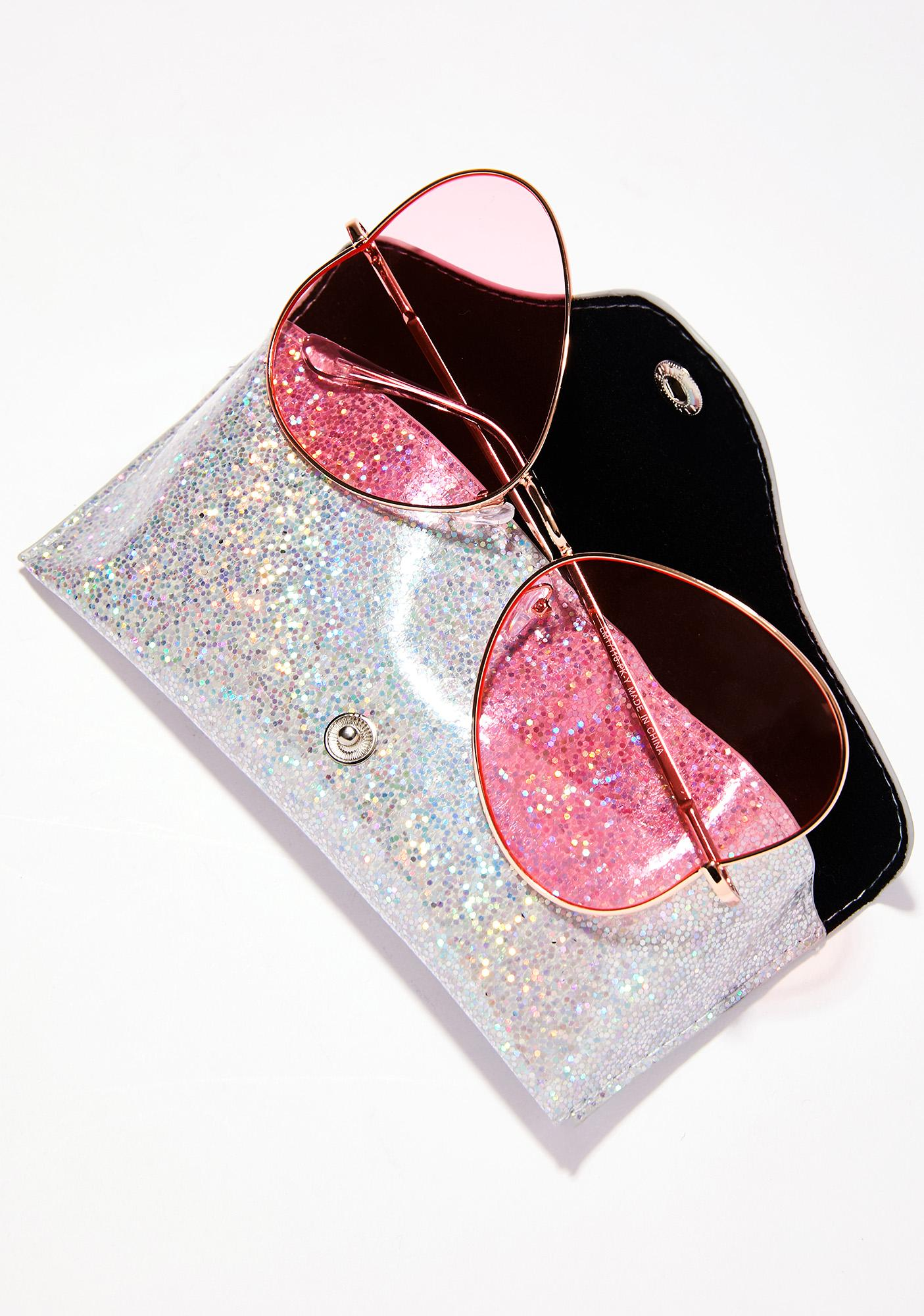 Skinnydip Glitter Sunglasses Pouch