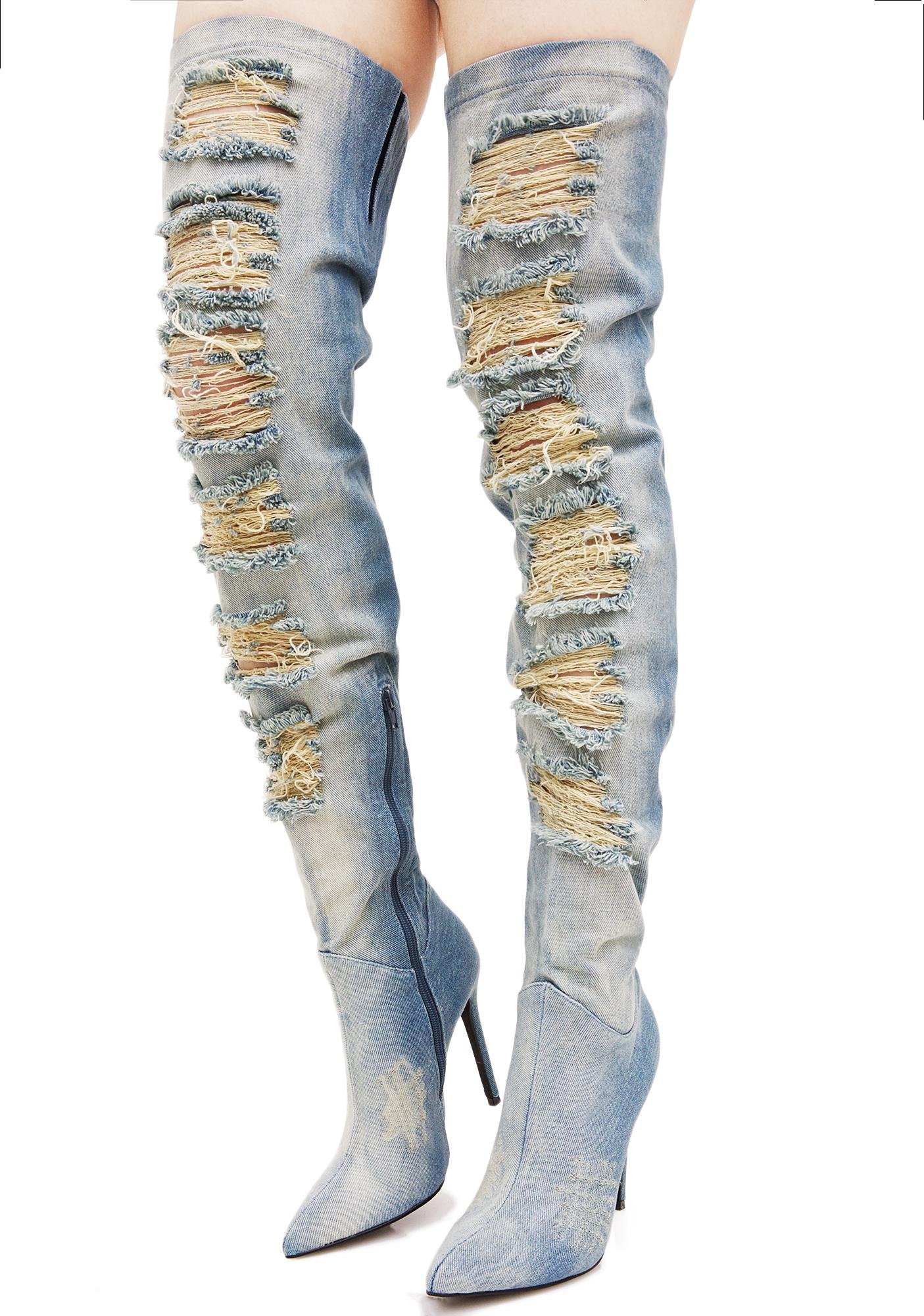 Privileged Matheson Over-the-Knee Distressed Boot 8CBqZ