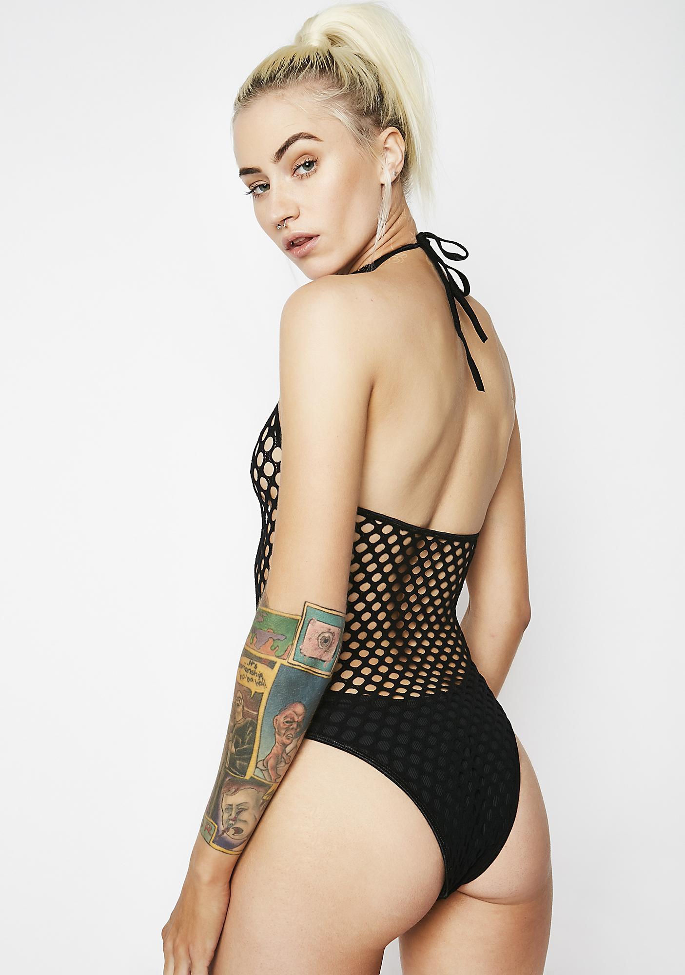 A Perfect Catch Net Bodysuit