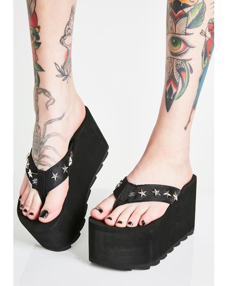 Pixi Star Platform Sandals