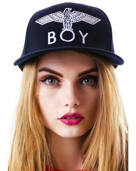 BOY Eagle Emblem Fitted Cap