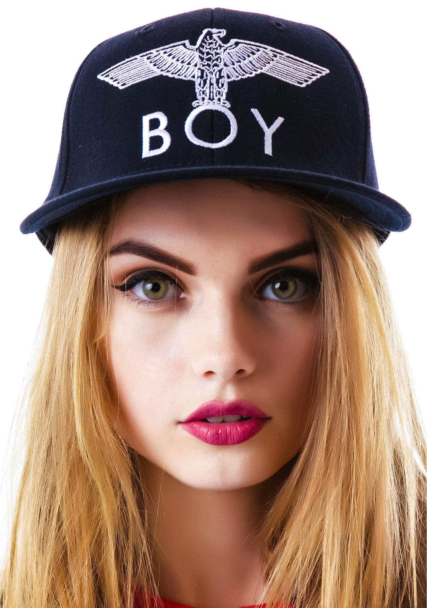 BOY London BOY Eagle Emblem Fitted Cap