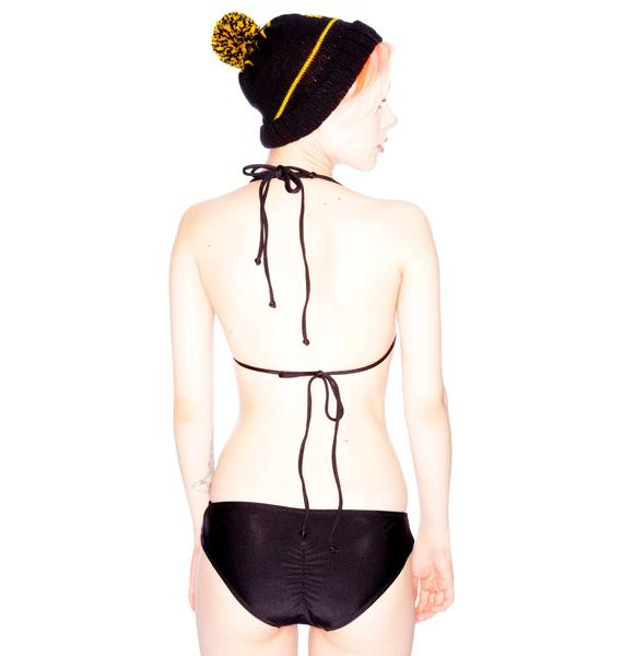 One Teaspoon Suede Tri Bikini