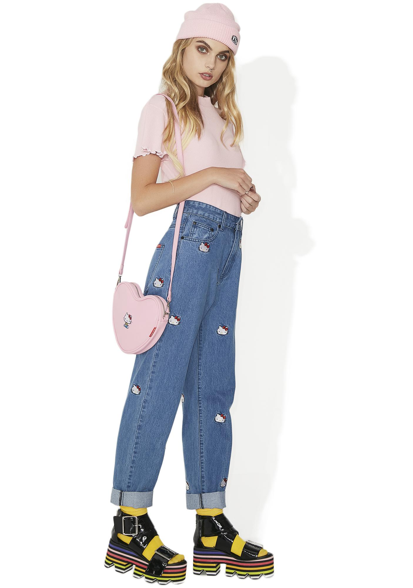 Lazy Oaf Hello Kitty Emb Jeans