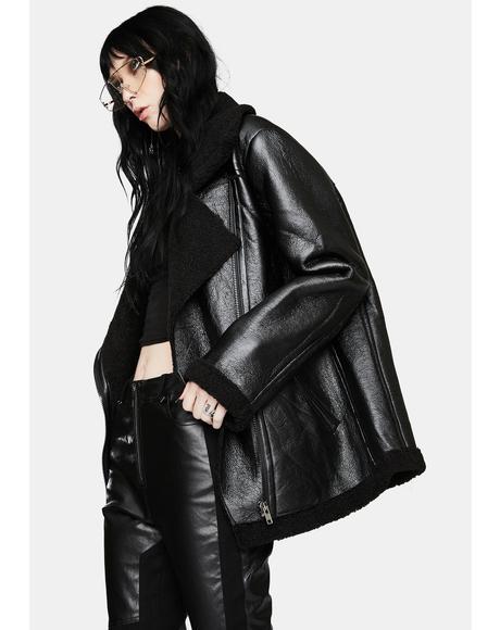 Brooke Leather Biker Jacket