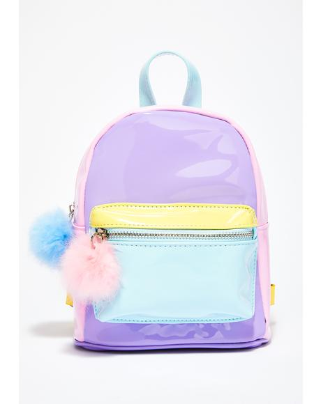 Melted Sherbert Color Block Backpack