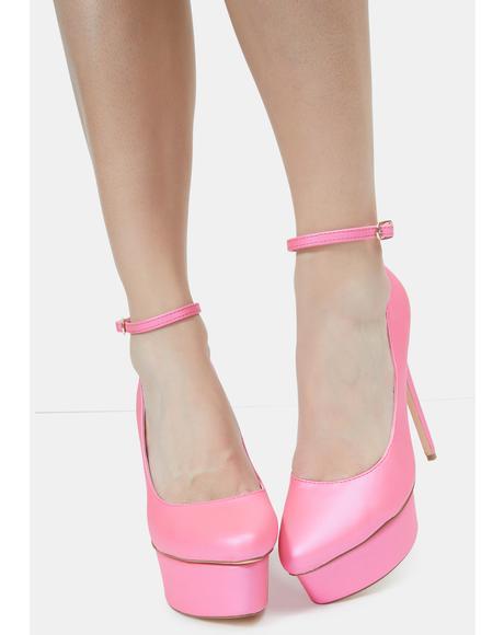 Pink Hassiba Heels