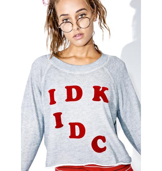 Wildfox Couture IDK-IDC Monte Crop