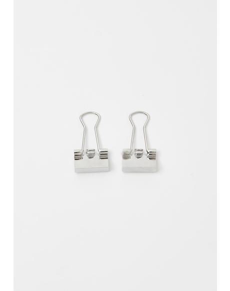 Always Organized Binder Clip Earrings