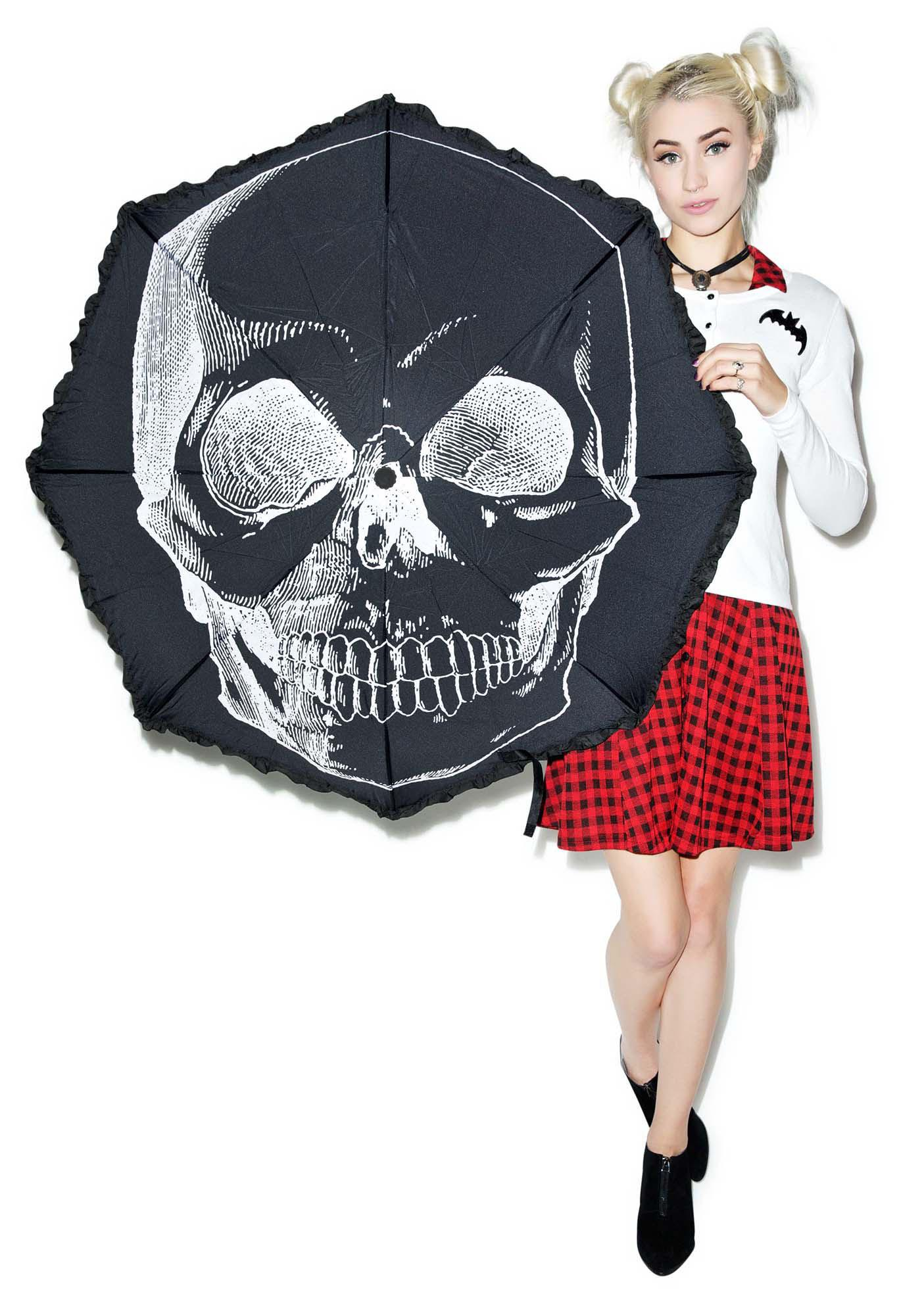 Sourpuss Clothing Anatomical Skull Umbrella