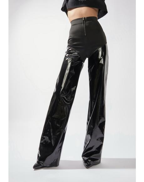 Camera Chic Patent Flares