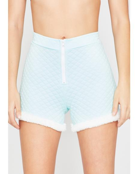 Powder Soft Gurl Hours Fur Trim Shorts