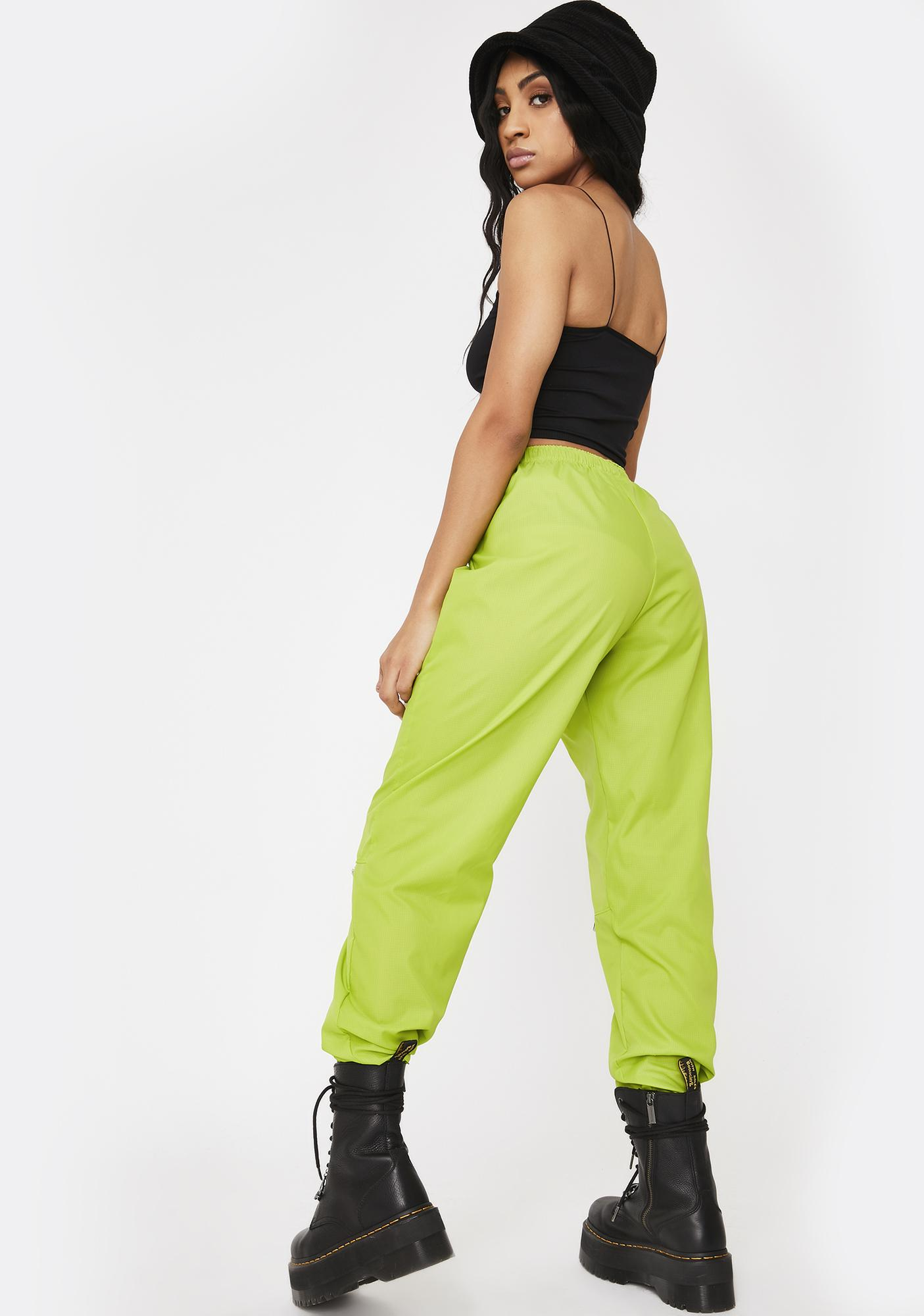 Riccetti Clothing Lime Green Liberty Windbreaker Pants