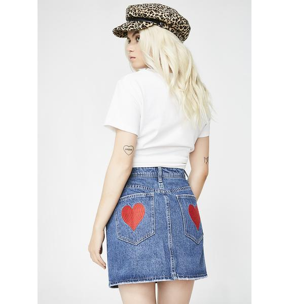 Indigo More To Love Denim Skirt