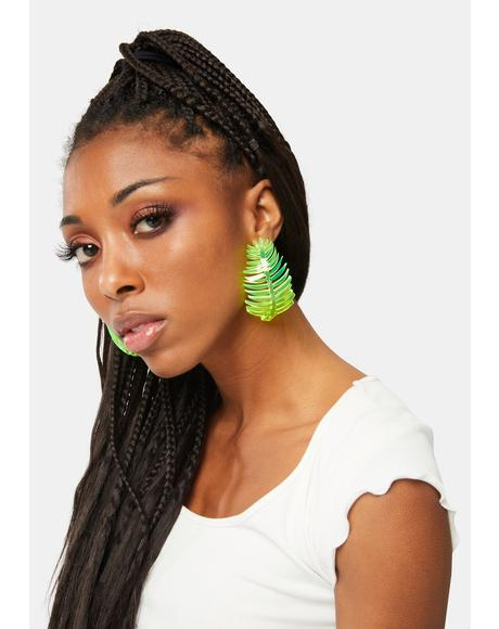 Bonnie Palm Hop Drop Earrings