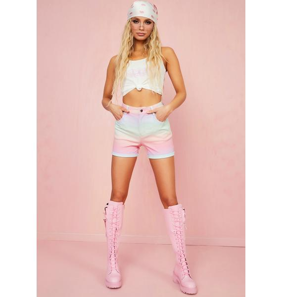Sugar Thrillz Sherbet Delight Denim Shorts