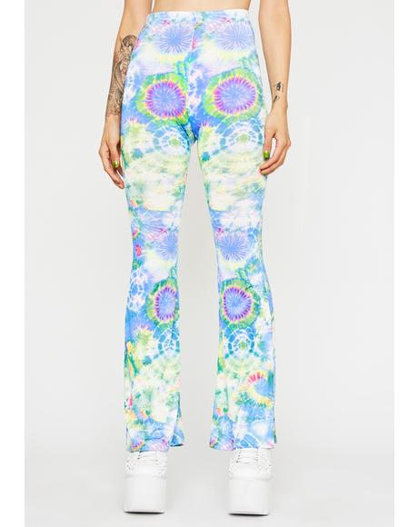 Sky Dimensional Delirium Flared Pants