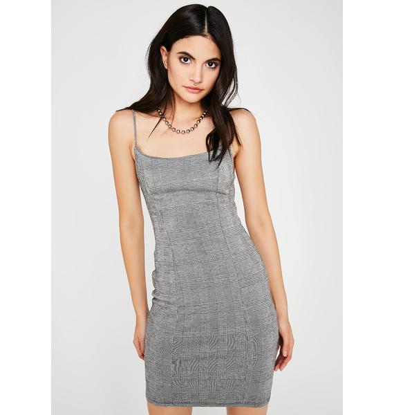 Cut Class Plaid Dress