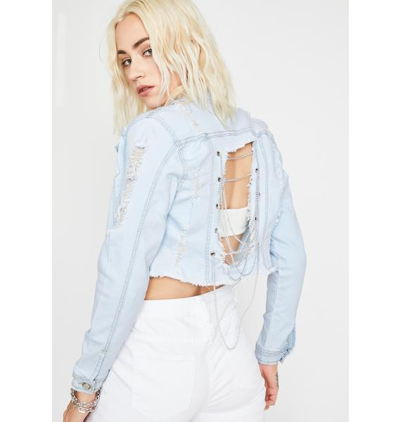 Sky G'd Up Chain Jacket