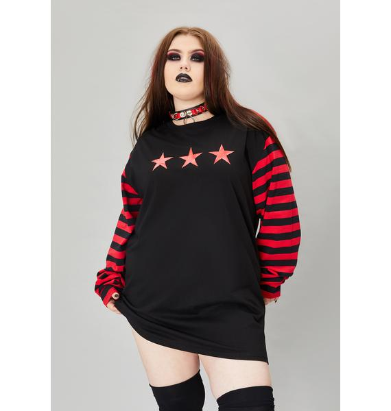 Widow True Nation Of Misfits Long Sleeve Graphic Tee