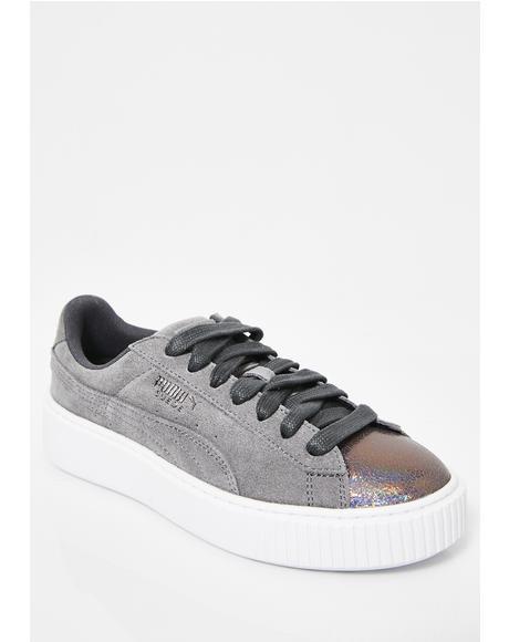Suede Platform LunaLux Sneakers