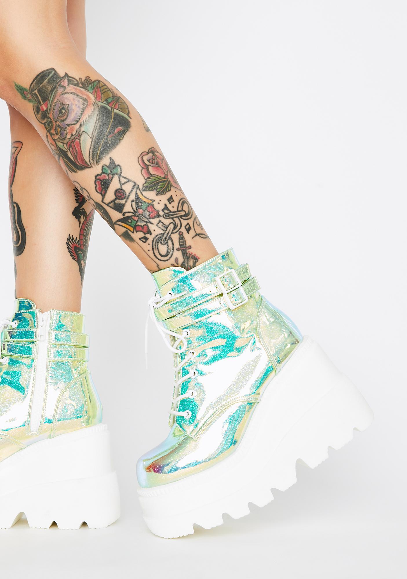 UV Glitter Technopagan Boots