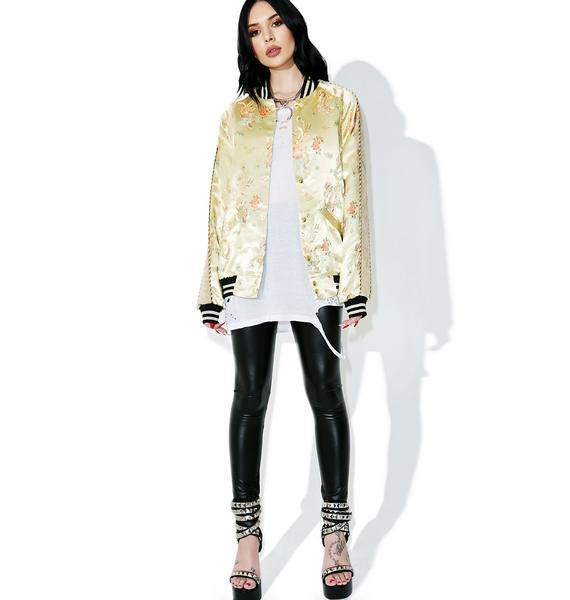 Jaded London Jacquard Souvenir Bomber