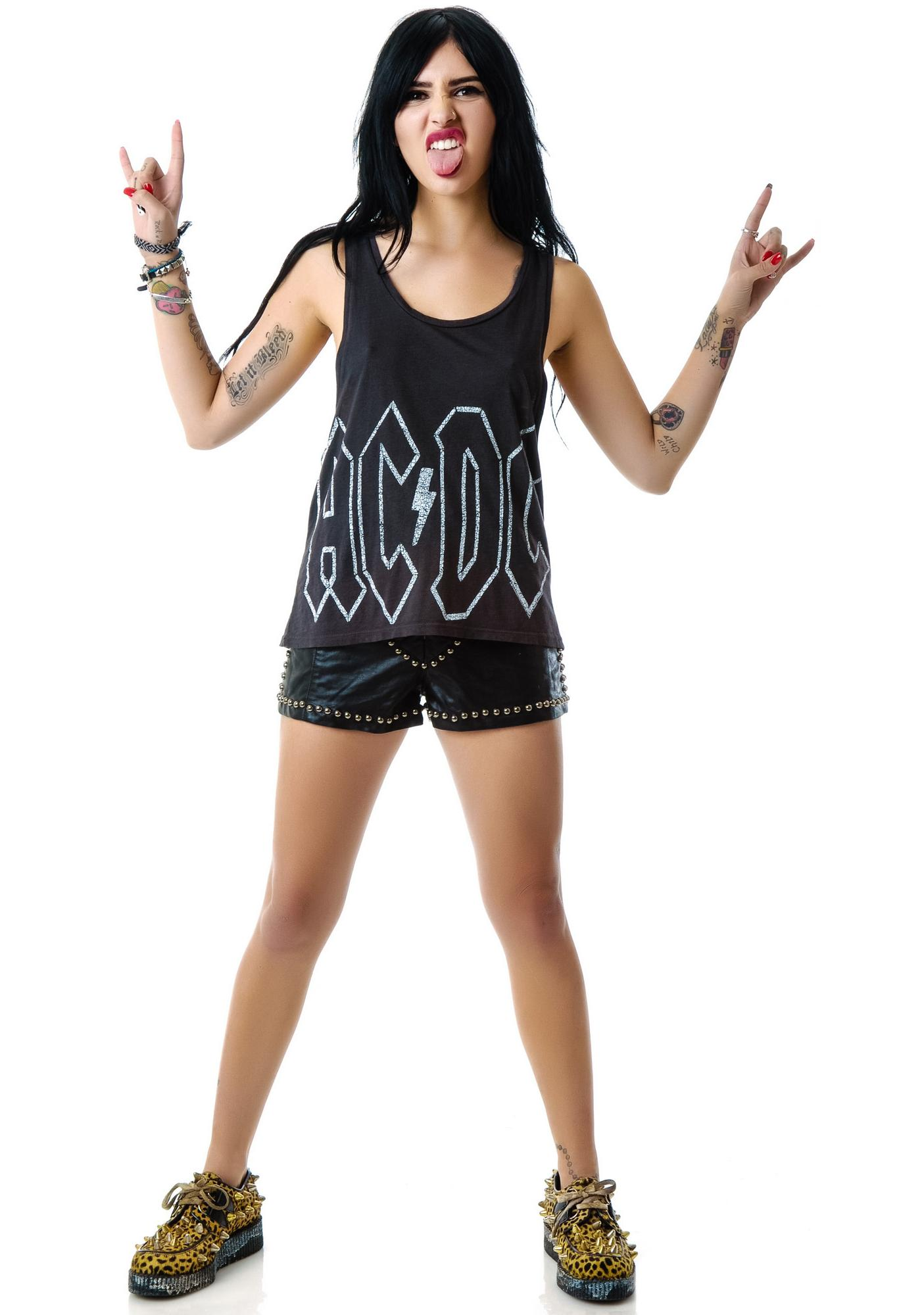 Junk Food Clothing AC/DC Tank