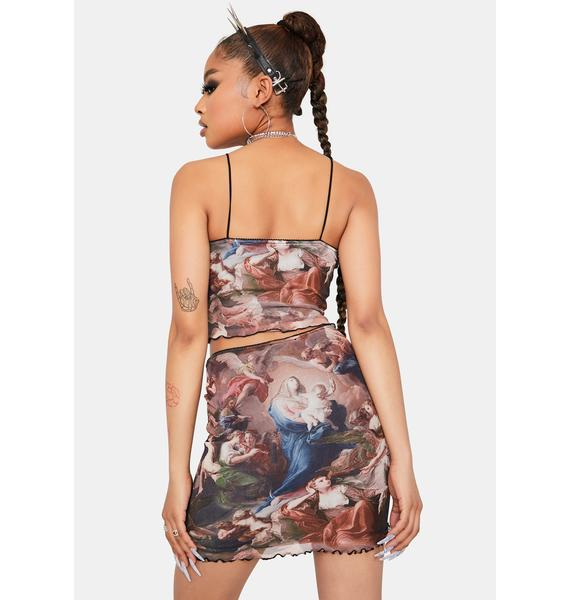 Heard From Heaven Mini Skirt