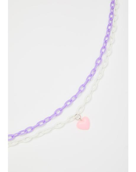 Let My Love In Chain Necklace