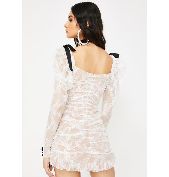 For Love & Lemons Beverly Pleated Mini Dress