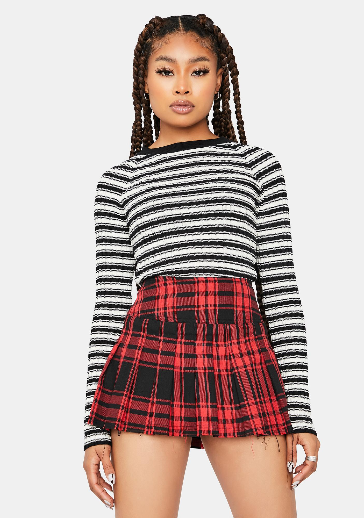 Mind Ya Biz Striped Crop Top