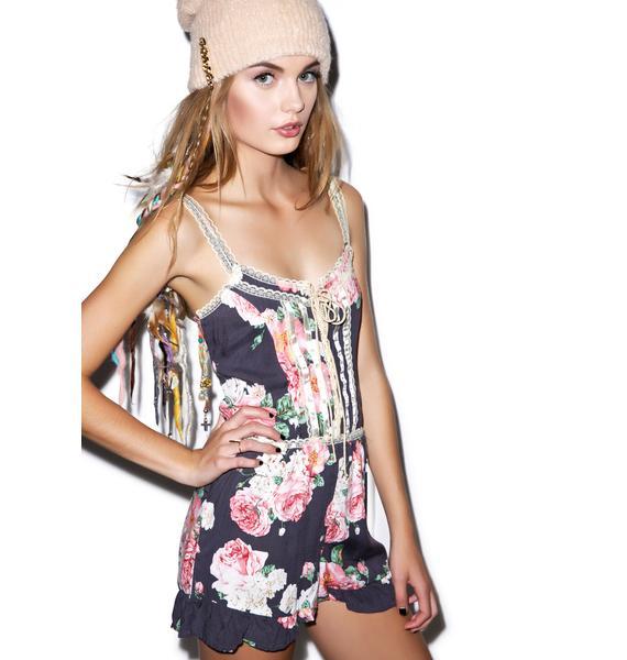 Wildfox Couture Austen Rose Ruffle Romper