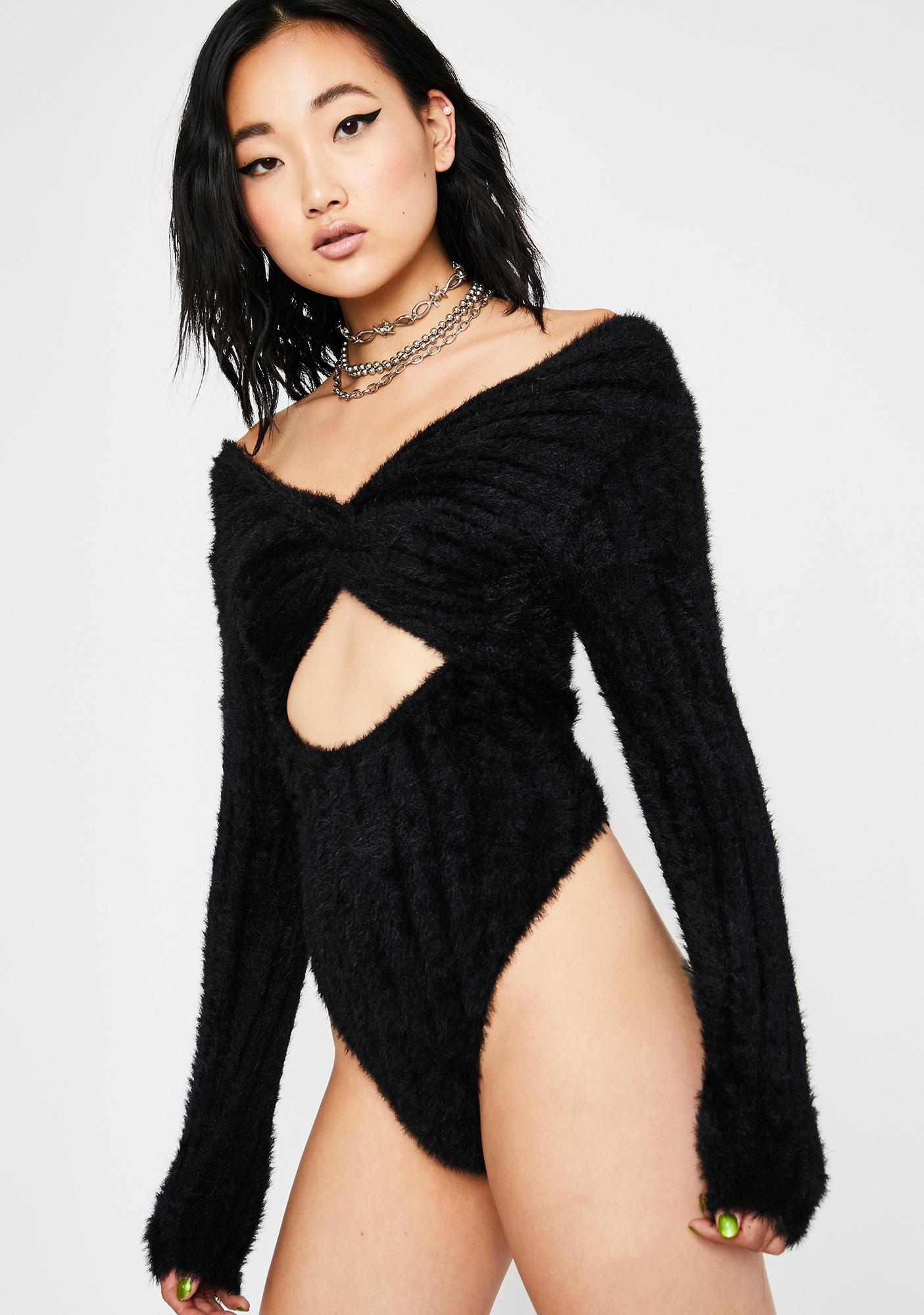 Coldhearted Lover Cut Out Bodysuit