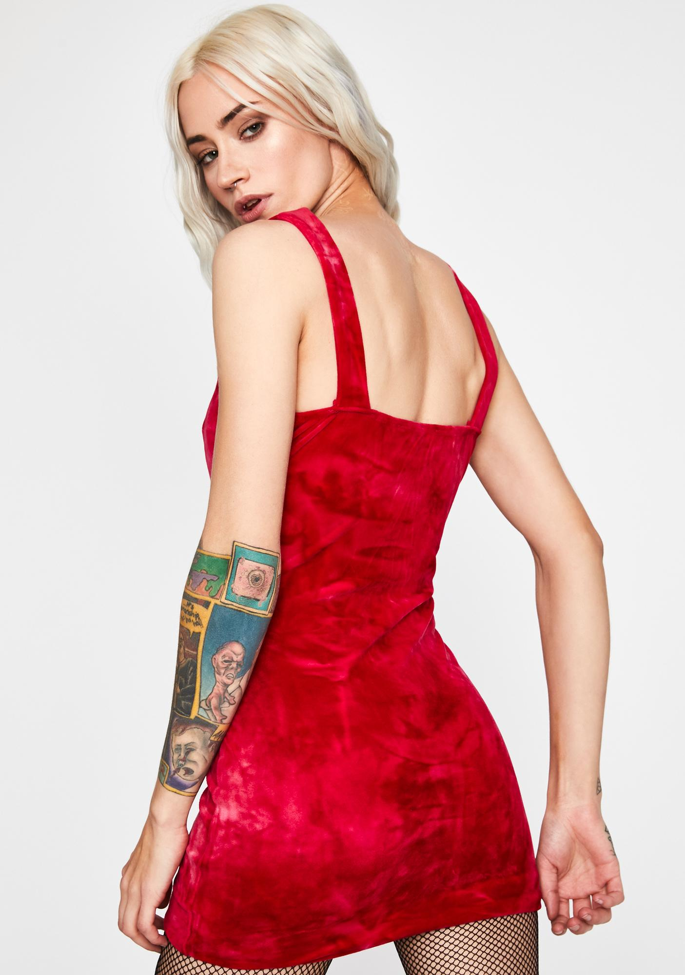 Hot Ruthless Temptations Velvet Dress