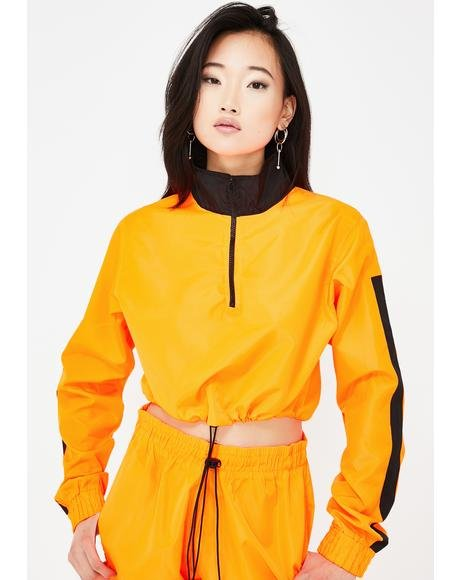 High Neck Tracksuit Top