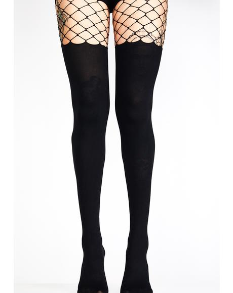 Censored Fishnet Tights