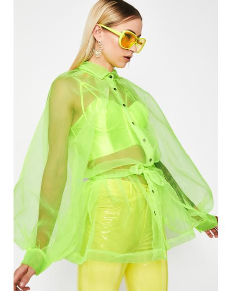 Atomic Art Betch Organza Top