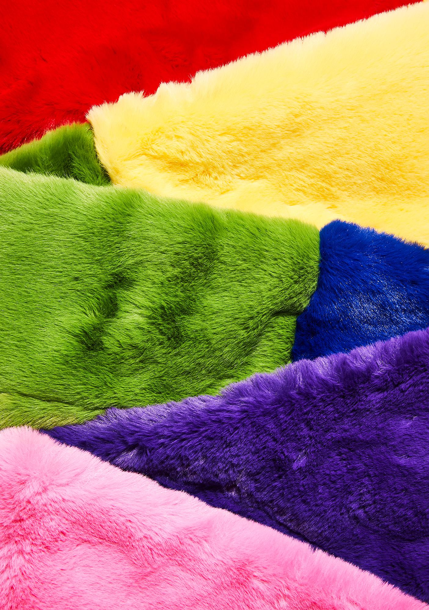 Lazy Oaf Furry Rainbow Scarf