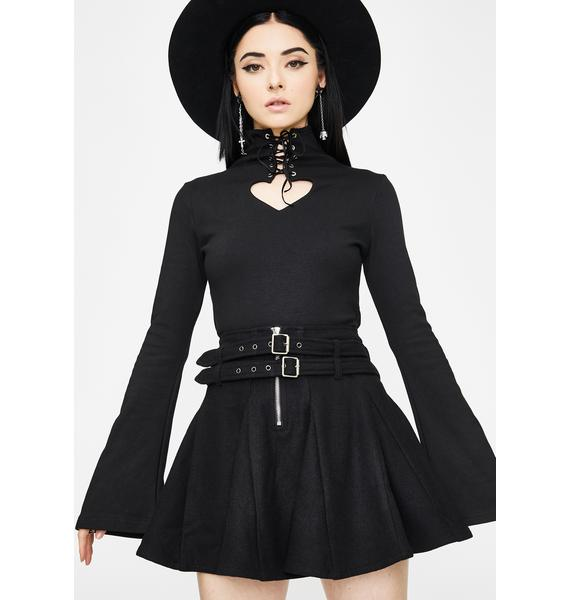 Punk Rave Woolen Half Skirt