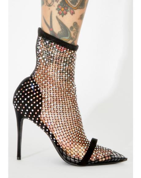 Sultry Showstopper Rhinestone Heels