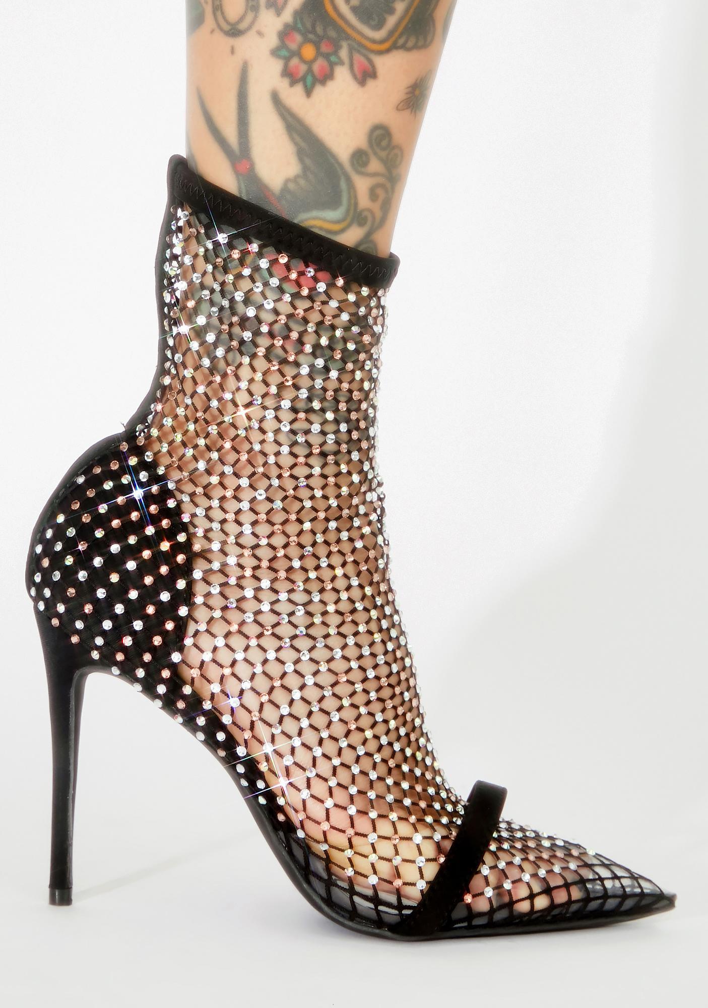Sultry Showstopper Rhinestone Heels