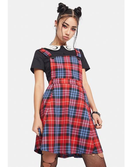 Babe Plaid Pinafore