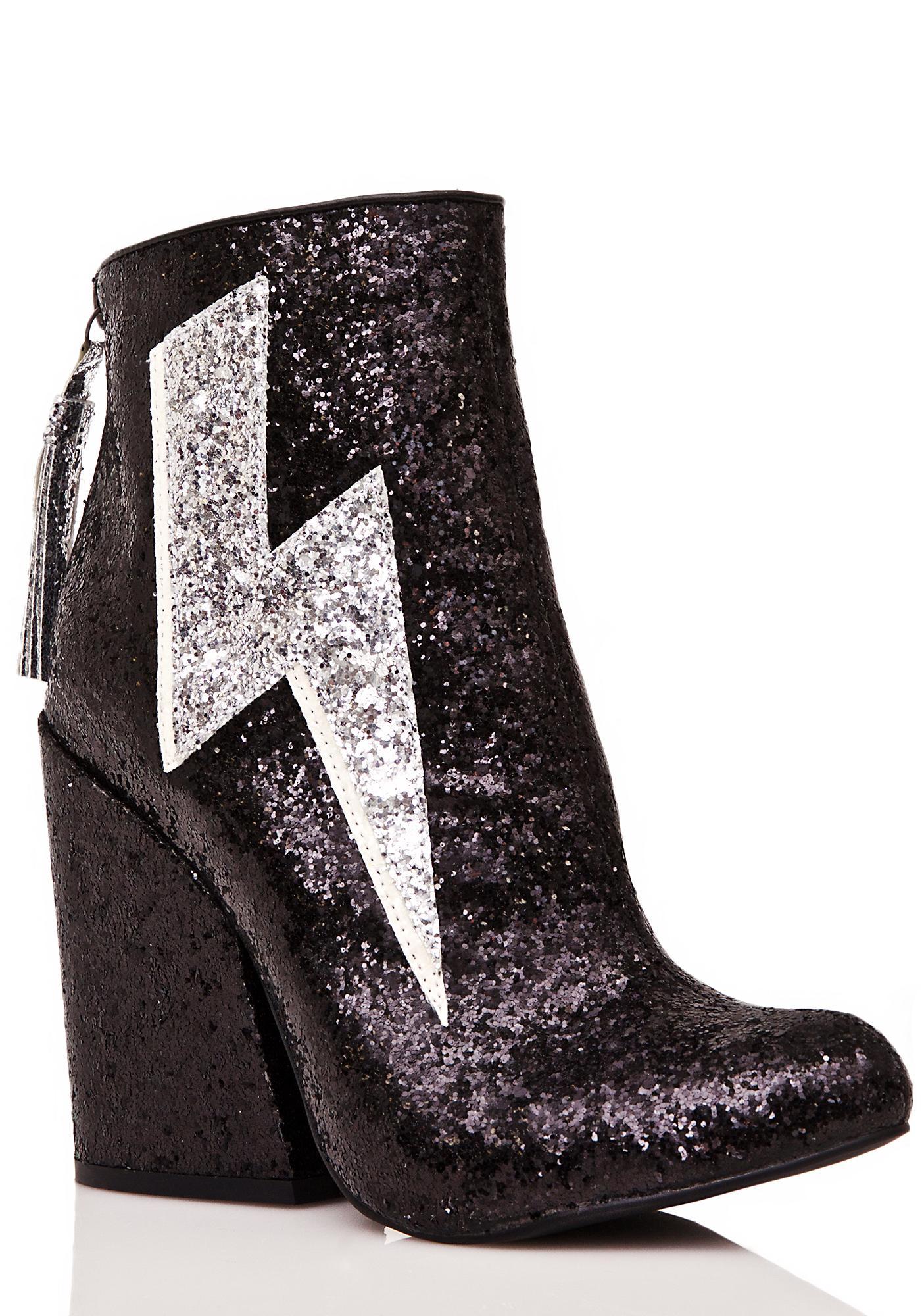 y r u ziggy sparkle lightning boots dolls kill