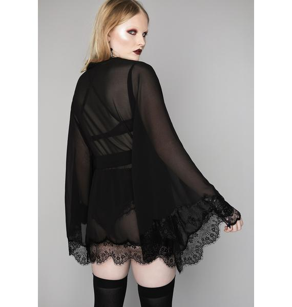 Widow Sinful Recluse Chiffon Robe