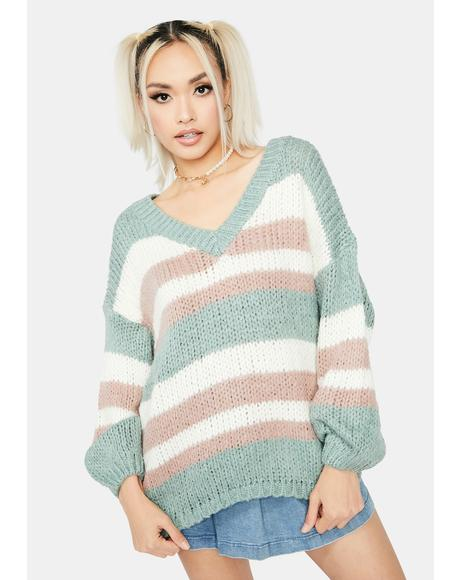 Sage Serenity V-Neck Sweater