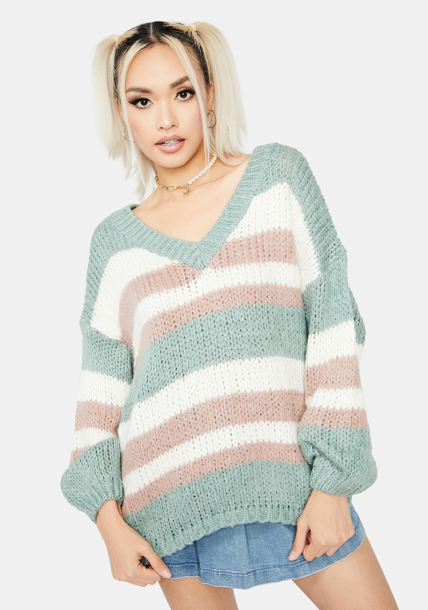 Sage Serenity V-Neck Sweater