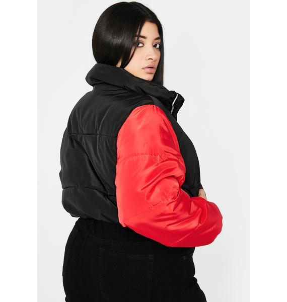 Gotta Switch It Up Puffer Jacket