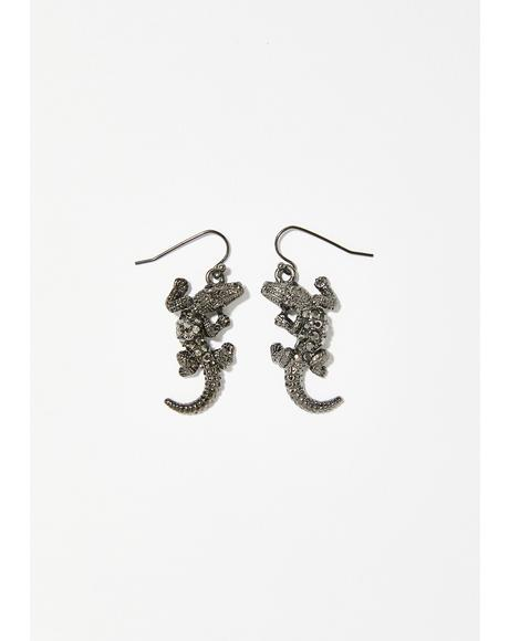 Chomp On 'Em Alligator Earrings